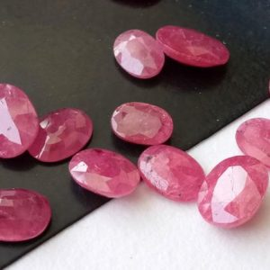 Shop Ruby Bead Shapes! 4 Pcs Ruby Mozambique Oval Cut Stone, 5x7mm – 6.5x9mm  Natural Ruby Faceted Oval Cut Stone, Loose Ruby Gems, Ruby Oval Cut Stone – AUSPH70 | Natural genuine other-shape Ruby beads for beading and jewelry making.  #jewelry #beads #beadedjewelry #diyjewelry #jewelrymaking #beadstore #beading #affiliate #ad