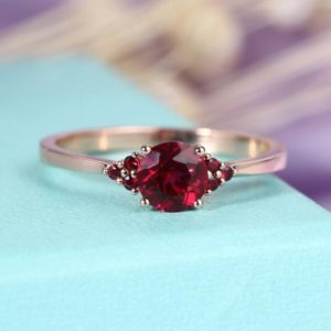 Shop Ruby Jewelry! Vintage alexandrite ring women ,Pear cut engagement ring rose gold,moissanite/Diamond ring,prong set ring,Anniversary ring gift for her | Natural genuine Ruby jewelry. Buy handcrafted artisan wedding jewelry.  Unique handmade bridal jewelry gift ideas. #jewelry #beadedjewelry #gift #crystaljewelry #shopping #handmadejewelry #wedding #bridal #jewelry #affiliate #ad