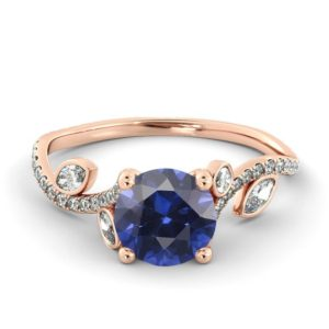 Shop Unique Sapphire Engagement Rings! Sapphire Flower Ring, Sapphrie Leaf Ring, Sapphire Engagement Ring | Natural genuine Sapphire rings, simple unique alternative gemstone engagement rings. #rings #jewelry #bridal #wedding #jewelryaccessories #engagementrings #weddingideas #affiliate #ad