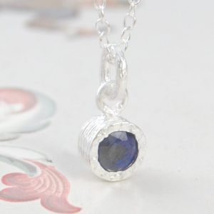 Shop Sapphire Pendants! Sapphire Pendant, Sapphire Necklace, Silver Gemstone Necklace, Simple Necklace, September Birthstone Gift, Gemstone Pendant, Natural Stone | Natural genuine gemstone jewelry in modern, chic, boho, elegant styles. Buy crystal handmade handcrafted artisan art jewelry & accessories. #jewelry #beaded #beadedjewelry #product #gifts #shopping #style #fashion #product