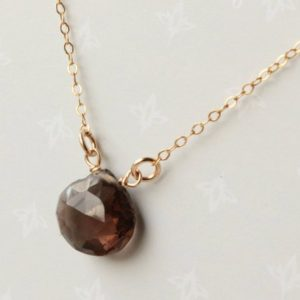 Shop Smoky Quartz Necklaces! Smokey Quartz Gold Filled Necklace wire wrapped natural brown black gemstone modern minimalist simple pendant Christmas gift for her 4310 | Natural genuine Smoky Quartz necklaces. Buy crystal jewelry, handmade handcrafted artisan jewelry for women.  Unique handmade gift ideas. #jewelry #beadednecklaces #beadedjewelry #gift #shopping #handmadejewelry #fashion #style #product #necklaces #affiliate #ad