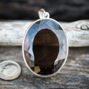 Shop Smoky Quartz Pendants! Smokey Quartz Pendant – Large Smokey Quartz Necklace – Quartz Pendant – Smokey Quartz Jewelry – Quartz – Sterling Silver and Smokey Quartz | Natural genuine gemstone jewelry in modern, chic, boho, elegant styles. Buy crystal handmade handcrafted artisan art jewelry & accessories. #jewelry #beaded #beadedjewelry #product #gifts #shopping #style #fashion #product