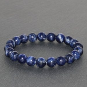 Chunky African Sodalite Bracelet Handmade 8mm Grade AAA Natural Dark Blue Sodalite Beaded Bracelet Gemstone Bracelet Stack Bracelet Jewelry | Natural genuine Sodalite bracelets. Buy crystal jewelry, handmade handcrafted artisan jewelry for women.  Unique handmade gift ideas. #jewelry #beadedbracelets #beadedjewelry #gift #shopping #handmadejewelry #fashion #style #product #bracelets #affiliate #ad