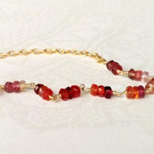 Shop Spinel Bracelets! Red Spinel Bracelet – Valentine's Gift Jewelry – 14K Gold Filled Jewellery – Gemstone – Chain – Beaded | Natural genuine Spinel bracelets. Buy crystal jewelry, handmade handcrafted artisan jewelry for women.  Unique handmade gift ideas. #jewelry #beadedbracelets #beadedjewelry #gift #shopping #handmadejewelry #fashion #style #product #bracelets #affiliate #ad