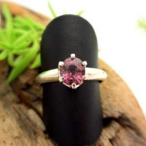 Shop Spinel Rings! Spinel Ring In Sterling Silver, Light Blackberry Pink Gemstone | Natural genuine Spinel rings, simple unique handcrafted gemstone rings. #rings #jewelry #shopping #gift #handmade #fashion #style #affiliate #ad