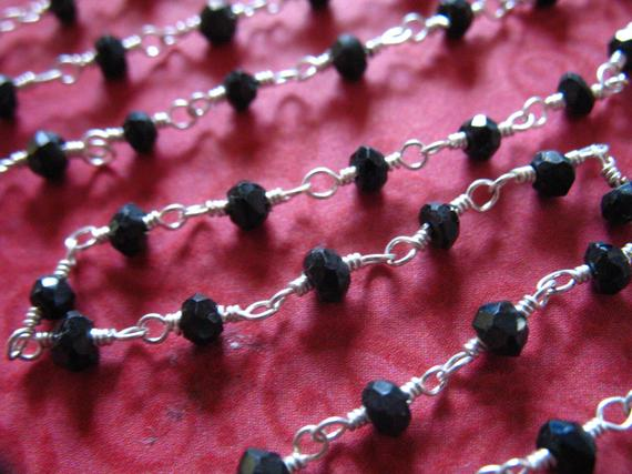 Sale by Foot 4mm faceted Labradorite Gold Plated Rosary Gemstone Chain