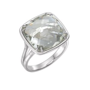 STUNNING 8ct Cushion Cut Green Amethyst Ring Sterling Silver Size 5 6 7 8 9  Prasiolite Ring Trending Jewelry Gift Mom Wife | Natural genuine Gemstone rings, simple unique handcrafted gemstone rings. #rings #jewelry #shopping #gift #handmade #fashion #style #affiliate #ad