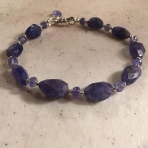 Shop Tanzanite Bracelets! Tanzanite Bracelet – Sterling Silver Jewelry – Purple Gemstone Jewellery – December Birthstone – Beaded | Natural genuine Tanzanite bracelets. Buy crystal jewelry, handmade handcrafted artisan jewelry for women.  Unique handmade gift ideas. #jewelry #beadedbracelets #beadedjewelry #gift #shopping #handmadejewelry #fashion #style #product #bracelets #affiliate #ad