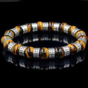 Shop Tiger Eye Bracelets! Tiger's Eye and Sterling Silver Bracelet, Men's Bracelet, Sterling Silver Beads Bracelet, Bead Bracelet Men, Tiger's Eye Bracelet Men | Natural genuine Tiger Eye bracelets. Buy crystal jewelry, handmade handcrafted artisan jewelry for women.  Unique handmade gift ideas. #jewelry #beadedbracelets #beadedjewelry #gift #shopping #handmadejewelry #fashion #style #product #bracelets #affiliate #ad