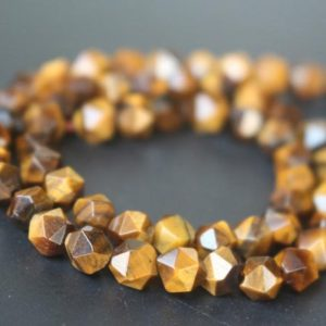 Shop Tiger Eye Chip & Nugget Beads! Natural Yellow Tigereye Faceted Nugget Beads,6mm/8mm/10mm/12mm Faceted Tigereye Nugget Wholesale Beads Bulk Supply,15 inches one starand | Natural genuine chip Tiger Eye beads for beading and jewelry making.  #jewelry #beads #beadedjewelry #diyjewelry #jewelrymaking #beadstore #beading #affiliate #ad