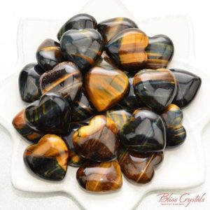 Shop Tiger Eye Shapes! 1 Blue Gold Tiger's Eye Puffy Heart Size Large Prosperity Power Courage #th02 | Natural genuine stones & crystals in various shapes & sizes. Buy raw cut, tumbled, or polished gemstones for making jewelry or crystal healing energy vibration raising reiki stones. #crystals #gemstones #crystalhealing #crystalsandgemstones #energyhealing #affiliate #ad