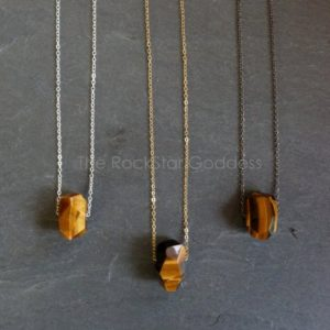 Shop Healing Gemstone & Crystal Pendants! Tigers Eye Necklace / Protective Stone / Tiger's Eye Pendant / Tigers Eye / Tigers Eye Jewelry / Gold Tiger Eye Necklace | Natural genuine Gemstone pendants. Buy crystal jewelry, handmade handcrafted artisan jewelry for women.  Unique handmade gift ideas. #jewelry #beadedpendants #beadedjewelry #gift #shopping #handmadejewelry #fashion #style #product #pendants #affiliate #ad