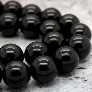 Shop Tourmaline Beads! Natural Black Tourmaline, Black Tourmaline Smooth Round Sphere Loose Gemstone Beads (4mm 6mm 8mm 10mm 12mm) | Natural genuine beads Tourmaline beads for beading and jewelry making.  #jewelry #beads #beadedjewelry #diyjewelry #jewelrymaking #beadstore #beading #affiliate #ad