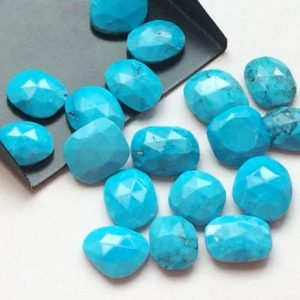 Turquoise Rose Cut Cabochons, Loose Natural Turquoise Flat Back Cabochons, Loose Turquoise 12-15mm, 4 pcs – KRIS56 | Natural genuine stones & crystals in various shapes & sizes. Buy raw cut, tumbled, or polished gemstones for making jewelry or crystal healing energy vibration raising reiki stones. #crystals #gemstones #crystalhealing #crystalsandgemstones #energyhealing #affiliate #ad