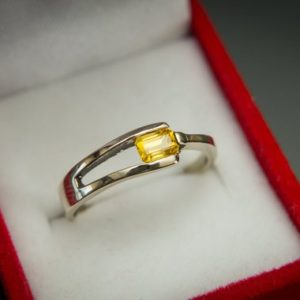 Yellow Sapphire Ring , Ceylon Sapphire Ring , Gold Sapphire ring , Handmade Gold Ring , Gift for Her , Natural Yellow Sapphire Ring | Natural genuine Yellow Sapphire rings, simple unique handcrafted gemstone rings. #rings #jewelry #shopping #gift #handmade #fashion #style #affiliate #ad