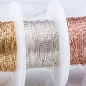 Shop Stringing Material for Jewelry Making! 0.61mm Beading Chain in Sterling Silver, Gold Filled, Rose Gold Filled, Delicate Beading Chain,Priced Per 5ft, 50ft or 100ft,SCNF161 | Shop jewelry making and beading supplies, tools & findings for DIY jewelry making and crafts. #jewelrymaking #diyjewelry #jewelrycrafts #jewelrysupplies #beading #affiliate #ad