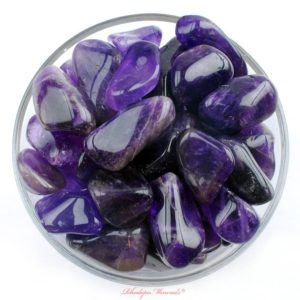 Shop Tumbled Amethyst Crystals & Pocket Stones! 1 One Large Amethyst Tumbled Stones, Tumbled Amethyst Stones, Tumbled Stones Amethyst, Amethyst Crystals, Amethyst Specimens, Healing Stones | Natural genuine stones & crystals in various shapes & sizes. Buy raw cut, tumbled, or polished gemstones for making jewelry or crystal healing energy vibration raising reiki stones. #crystals #gemstones #crystalhealing #crystalsandgemstones #energyhealing #affiliate #ad