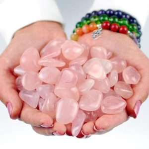 Shop Tumbled Rose Quartz Crystals & Pocket Stones! One 1 Rose Quartz Tumbled Stone, Girasol Rose Quartz Crystal, Girasol Rose Quartz Stone, Tumbled Rose Quartz, Rhodope Minerals, Gift | Natural genuine stones & crystals in various shapes & sizes. Buy raw cut, tumbled, or polished gemstones for making jewelry or crystal healing energy vibration raising reiki stones. #crystals #gemstones #crystalhealing #crystalsandgemstones #energyhealing #affiliate #ad