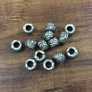 Shop Hemp Jewelry Making Supplies! 20pcs 6*10mm Antique Silver Beads , Large Hole Beads, Tibetan Style Beads , Crafted  supplies findings | Shop jewelry making and beading supplies, tools & findings for DIY jewelry making and crafts. #jewelrymaking #diyjewelry #jewelrycrafts #jewelrysupplies #beading #affiliate #ad