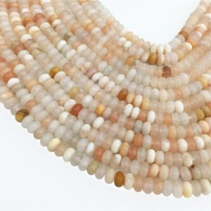 Shop Aventurine Rondelle Beads! 6mm 8mm Peach Aventurine Rondelle Beads , 15.5 Inch Strand,Hole Approx 0.8mm | Natural genuine rondelle Aventurine beads for beading and jewelry making.  #jewelry #beads #beadedjewelry #diyjewelry #jewelrymaking #beadstore #beading #affiliate #ad