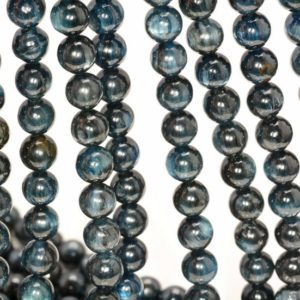 Shop Kyanite Round Beads! 7-8mm Kyanite Gemstone Eye Grade AA Dark Blue Round 7-8mm Loose Beads 7 inch Half Strand LOT 1,2,6,12 and 50 (80000630-259) | Natural genuine round Kyanite beads for beading and jewelry making.  #jewelry #beads #beadedjewelry #diyjewelry #jewelrymaking #beadstore #beading #affiliate #ad