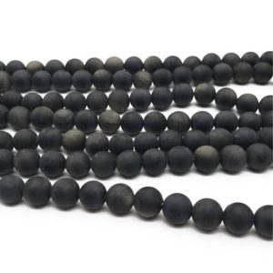 Shop Golden Obsidian Beads! 8mm Matte Gold Obsidian Beads, Round Gemstone Beads, Wholesale Beads | Natural genuine round Golden Obsidian beads for beading and jewelry making.  #jewelry #beads #beadedjewelry #diyjewelry #jewelrymaking #beadstore #beading #affiliate