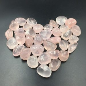 Shop Tumbled Rose Quartz Crystals & Pocket Stones! AA Rose Quartz Tumbled Pink Quartz Crystal Stone Tumbled Gemstone Healing Gemtone Mineral Specimen Reiki Meditation Chakra Altar CD-TS | Natural genuine stones & crystals in various shapes & sizes. Buy raw cut, tumbled, or polished gemstones for making jewelry or crystal healing energy vibration raising reiki stones. #crystals #gemstones #crystalhealing #crystalsandgemstones #energyhealing #affiliate #ad