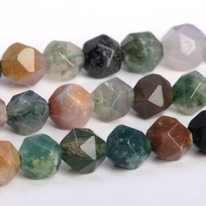 Shop Agate Faceted Beads! Indian Agate Beads Star Cut Faceted Grade AAA Genuine Natural Gemstone Loose Beads 5-6MM 7-8MM 9-10MM Bulk Lot Options   Natural genuine faceted Agate beads for beading and jewelry making.  #jewelry #beads #beadedjewelry #diyjewelry #jewelrymaking #beadstore #beading #affiliate #ad