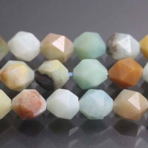 Shop Amazonite Chip Beads! Mixcolor Amazonite Faceted Nugget Beads,Natural Faceted Amazonite Nugget Beads,15 inches one starand | Natural genuine chip Amazonite beads for beading and jewelry making.  #jewelry #beads #beadedjewelry #diyjewelry #jewelrymaking #beadstore #beading #affiliate