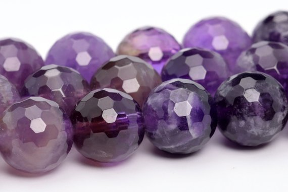 Amethyst Beads Grade Aa Genuine Natural Gemstone Micro Faceted Round Loose Beads 6mm 8mm 10mm Bulk Lot Options