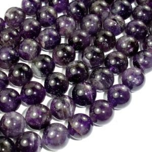 Shop Amethyst Round Beads! Amethyst, 12mm Round Beads, 15.5 Inch, Full Strand, Approx 33 Beads, Hole 1 Mm (115054019) | Natural genuine round Amethyst beads for beading and jewelry making.  #jewelry #beads #beadedjewelry #diyjewelry #jewelrymaking #beadstore #beading #affiliate #ad