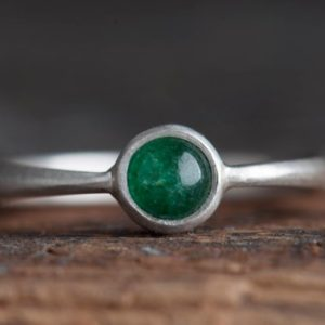 Shop Aventurine Rings! Aventurine Ring 925 Silver, Small Ring for Woman, Simple Green Ring, Handmade Aventurine Ring, Prosperity Stone Ring, Lucky Ring | Natural genuine Aventurine rings, simple unique handcrafted gemstone rings. #rings #jewelry #shopping #gift #handmade #fashion #style #affiliate #ad