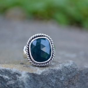 Bloodstone Ring,Size 8,bloodstone, Bloodstone Womens Ring, Sterling Silver bloodstone Ring, bloodstone jewelry, bloodstone jewelry ring | Natural genuine Gemstone rings, simple unique handcrafted gemstone rings. #rings #jewelry #shopping #gift #handmade #fashion #style #affiliate #ad