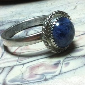 Shop Sodalite Rings! Blue Sodalite, Sodalite ring, Sterling Silver ring, Rockhound gift, Nature lover gift | Natural genuine Sodalite rings, simple unique handcrafted gemstone rings. #rings #jewelry #shopping #gift #handmade #fashion #style #affiliate #ad