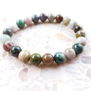 Shop Ocean Jasper Bracelets! Calm Focus, Ocean Jasper Bracelet | Natural genuine Ocean Jasper bracelets. Buy crystal jewelry, handmade handcrafted artisan jewelry for women.  Unique handmade gift ideas. #jewelry #beadedbracelets #beadedjewelry #gift #shopping #handmadejewelry #fashion #style #product #bracelets #affiliate #ad