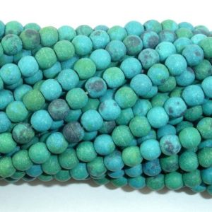 Shop Chrysocolla Round Beads! Matte Chrysocolla, 4mm(4.5mm) Round Beads, 15 Inch, Full strand, Approx 88 beads, Hole 0.8mm, A quality,Reconstituted (196054017) | Natural genuine round Chrysocolla beads for beading and jewelry making.  #jewelry #beads #beadedjewelry #diyjewelry #jewelrymaking #beadstore #beading #affiliate #ad