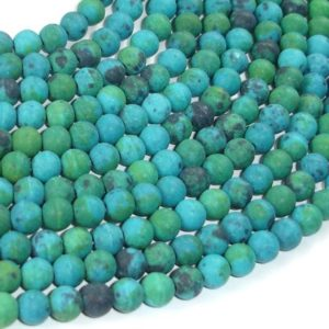 Shop Chrysocolla Round Beads! Matte Chrysocolla, 6mm(6.5mm) Round Beads, 15.5 Inch, Full strand, Approx 65 beads, Hole 1mm, A quality, Reconstituted (196054018) | Natural genuine round Chrysocolla beads for beading and jewelry making.  #jewelry #beads #beadedjewelry #diyjewelry #jewelrymaking #beadstore #beading #affiliate #ad