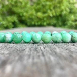 Shop Chrysoprase Bracelets! Chrysoprase Bracelet 8mm Grade A Natural Green Chrysoprase Beaded Gemstone Bracelet Stack Bracelet Unisex Bracelet Gift Bracelet | Natural genuine gemstone jewelry in modern, chic, boho, elegant styles. Buy crystal handmade handcrafted artisan art jewelry & accessories. #jewelry #beaded #beadedjewelry #product #gifts #shopping #style #fashion #product