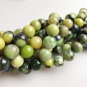 Shop Chrysoprase Round Beads! Gorgeous Chinese Chrysoprase Smooth Round Loose Beads 15.5'' Long Per Strand. Size 4mm/6mm/8mm/10mm.GEM-171120-105 | Natural genuine round Chrysoprase beads for beading and jewelry making.  #jewelry #beads #beadedjewelry #diyjewelry #jewelrymaking #beadstore #beading #affiliate #ad