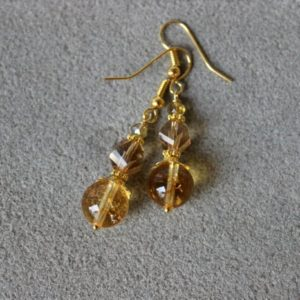 Shop Citrine Earrings! Citrine Earrings, Gold Stone Earrings, Gold Crystal Earrings, Yellow Bead Earrings, Yellow Gold Earring, Citrine Jewelry, Bridesmaid Earring | Natural genuine Citrine earrings. Buy crystal jewelry, handmade handcrafted artisan jewelry for women.  Unique handmade gift ideas. #jewelry #beadedearrings #beadedjewelry #gift #shopping #handmadejewelry #fashion #style #product #earrings #affiliate #ad