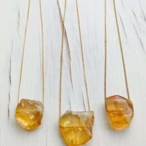 Citrine Necklace Citrine Raw Slab Necklace Citrine Jewelry Gemstone Jewelry November Birthstone | Natural genuine Citrine necklaces. Buy crystal jewelry, handmade handcrafted artisan jewelry for women.  Unique handmade gift ideas. #jewelry #beadednecklaces #beadedjewelry #gift #shopping #handmadejewelry #fashion #style #product #necklaces #affiliate #ad
