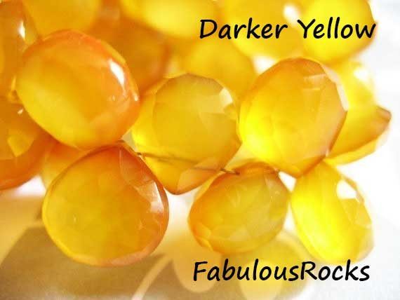 2-20 Pc / Chalcedony Heart Briolettes Gemstone / Aaa, 10.5-12 Mm, Darker Yellow, Faceted / Use For Citrine November Birthstone Bgg Solo 1012