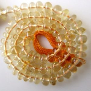 Shop Citrine Rondelle Beads! Citrine Rondelle Beads, Smooth Citrine Beads, 5mm Each, 10 Inch Strand, GDS606 | Natural genuine rondelle Citrine beads for beading and jewelry making.  #jewelry #beads #beadedjewelry #diyjewelry #jewelrymaking #beadstore #beading #affiliate #ad