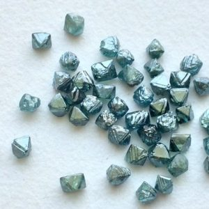Shop Diamond Chip & Nugget Beads! Blue Rough Diamond Crystal, 2-2.5mm Blue Crystal, Natural Raw Diamond, Rough Diamond, Uncut Diamond, Loose Blue Diamond – PUSPD109 | Natural genuine chip Diamond beads for beading and jewelry making.  #jewelry #beads #beadedjewelry #diyjewelry #jewelrymaking #beadstore #beading #affiliate #ad