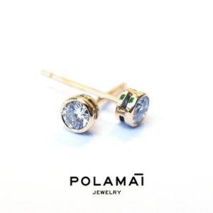 Shop Diamond Earrings! Diamond Earrings 18k Solid Gold 0.40 0.20 ctw . Stud Solitaire Earrings . Round Bezel Set . Yellow Gold . Polamai Jewelry | Natural genuine gemstone jewelry in modern, chic, boho, elegant styles. Buy crystal handmade handcrafted artisan art jewelry & accessories. #jewelry #beaded #beadedjewelry #product #gifts #shopping #style #fashion #product
