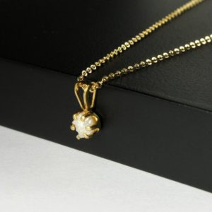 Shop Diamond Pendants! 4.5mm Rough Diamond Pendant Necklace – Simple 14k Gold Filled Necklace With White Raw Diamond – Natural Unfinished Conflict Free Diamond | Natural genuine Diamond pendants. Buy crystal jewelry, handmade handcrafted artisan jewelry for women.  Unique handmade gift ideas. #jewelry #beadedpendants #beadedjewelry #gift #shopping #handmadejewelry #fashion #style #product #pendants #affiliate #ad