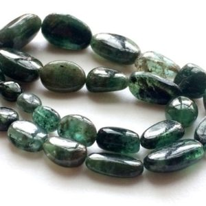 Shop Emerald Chip & Nugget Beads! Emerald Beads, Emerald Plain Oval Nuggets, Original Green Emerald, Emerald Necklace, 5-20mm, 9 Inch, 24 Pcs – Pgpa119 | Natural genuine chip Emerald beads for beading and jewelry making.  #jewelry #beads #beadedjewelry #diyjewelry #jewelrymaking #beadstore #beading #affiliate #ad