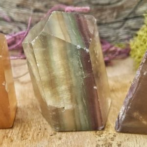 Shop Fluorite Points & Wands! Multi Fluorite Crystal Obelisk Tower Point –  114 | Natural genuine stones & crystals in various shapes & sizes. Buy raw cut, tumbled, or polished gemstones for making jewelry or crystal healing energy vibration raising reiki stones. #crystals #gemstones #crystalhealing #crystalsandgemstones #energyhealing #affiliate #ad