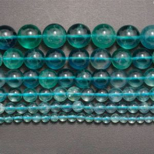 Shop Fluorite Beads! Grade AAA Natural Blue Fluorite Beads, Blue Gemstone Beads, Stone Beads, Spaser beads, Round Natural Spacer Beads 4mm 6mm 8mm 10mm 12mm 14mm | Natural genuine beads Fluorite beads for beading and jewelry making.  #jewelry #beads #beadedjewelry #diyjewelry #jewelrymaking #beadstore #beading #affiliate #ad