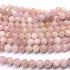 Shop Morganite Round Beads! Genuine Pink Morganite 4mm – 12mm Round Natural Grade AB Loose Gemstone Beads 15 inch Jewelry Supply Bracelet Necklace Material Wholesale | Natural genuine round Morganite beads for beading and jewelry making.  #jewelry #beads #beadedjewelry #diyjewelry #jewelrymaking #beadstore #beading #affiliate #ad